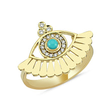 Load image into Gallery viewer, OWN Your Story Evil Eye Lower Lashes Ring