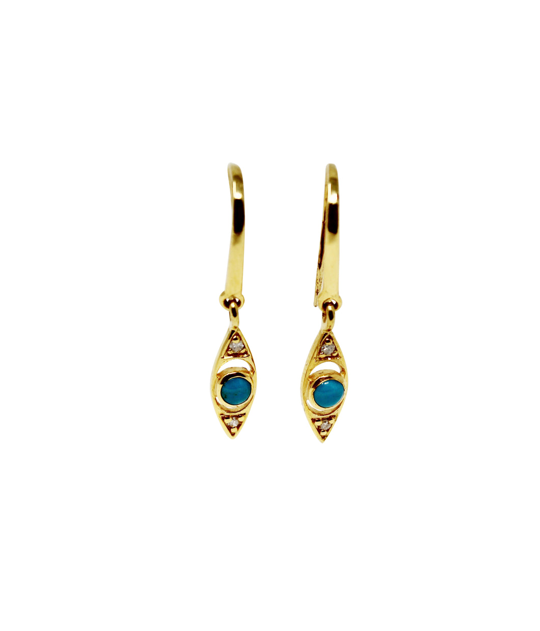 Anné Gangel Turqouise & Monnstone Protective Eye Earrings