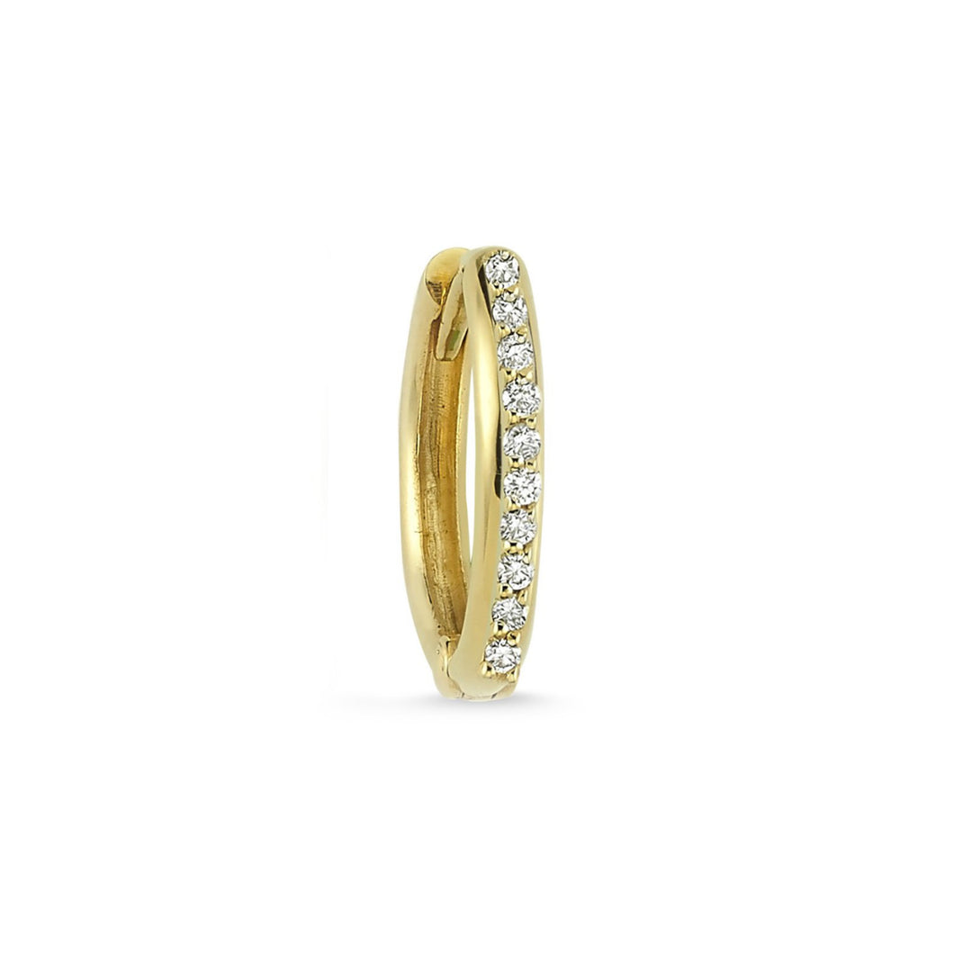 OWN Your Story 14K Gold Diamond Pave Hoop (Single)