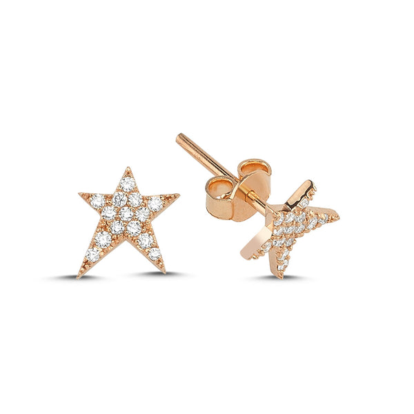 OWN Your Story Diamond Rock Star Studs with Diamonds