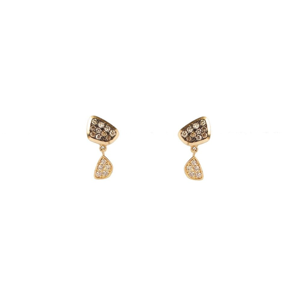 Anné Gangel Champagne Diamond Abstract Drops
