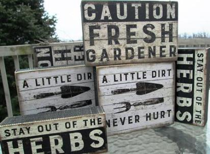 Gardening Box Signs - The Essential Herbal