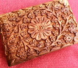 Carved Wooden Box - The Essential Herbal