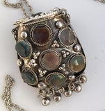Hinged Metal Pouch Necklace - The Essential Herbal