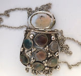 Hinged Metal Pouch Necklace
