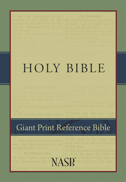 NASB Giant-Print Reference Bible, 1995 text