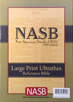 NASB Large Print Ultrathin Reference Bible (Damaged)