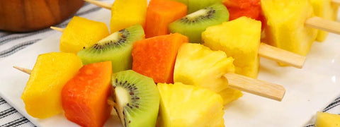 Frozen fruit skweres recipe for snacks and desserts