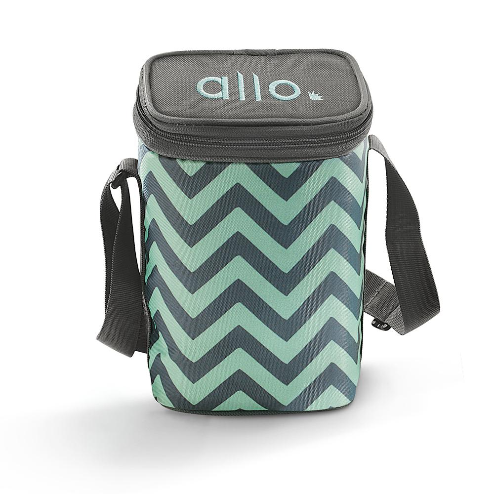 Allo Square Chevron Mint Lunch Bag for Office,School | Ideal for 3pc 310ml Containers Tiffin Bag (ONLY BAG) - Allo Innoware