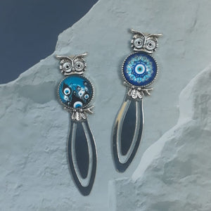 Owl Evil Eye Bookmark