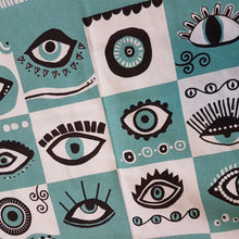 Load image into Gallery viewer, Evil Eye Patterned Tea Towel