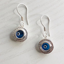 Load image into Gallery viewer, Greek Key Circle Earrings