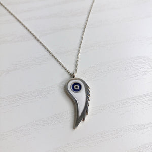Evil Eye Wing Pendant Necklace