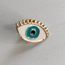 Load image into Gallery viewer, Evil Eye Lapel Brooch / Pin