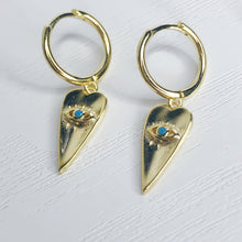 Load image into Gallery viewer, Blue Eye Pendant Earrings