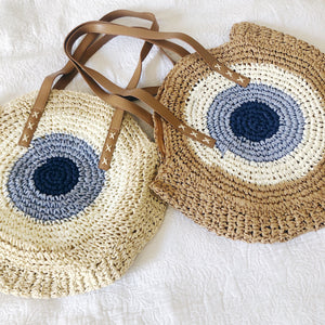 Evil Eye Straw Summer Bag