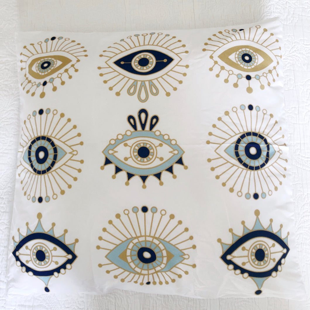 Geometric Evil Eye Cushion Cover