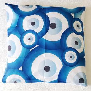 Patterned Evil Eyes Cushion Cover