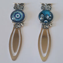 Load image into Gallery viewer, Owl Evil Eye Bookmark