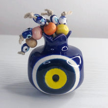 Load image into Gallery viewer, Ceramic Evil Eye Pomegranate