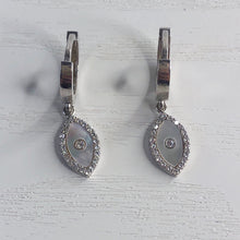 Load image into Gallery viewer, Mother of Pearl Diamante Mati Earrings