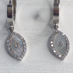 Mother of Pearl Diamante Mati Earrings
