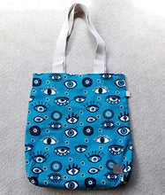 Load image into Gallery viewer, Evil Eye Patterned Tote Bag