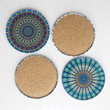 Load image into Gallery viewer, Evil Eye Inspired Mandala Coaster Set