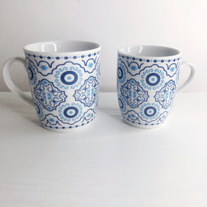Azure Evil Eye Mosaic Tea Mug