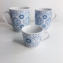 Load image into Gallery viewer, Azure Evil Eye Mosaic Cappuccino Cup