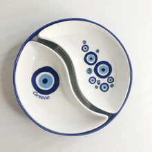 Load image into Gallery viewer, Kedima Greece Blue Eyes Ying & Yang Dish