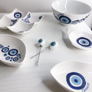 Kedima Greece Blue Eyes Dips Dish