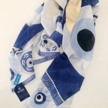 Load image into Gallery viewer, Midas Evil-Eye Scarf / Beach Wrap