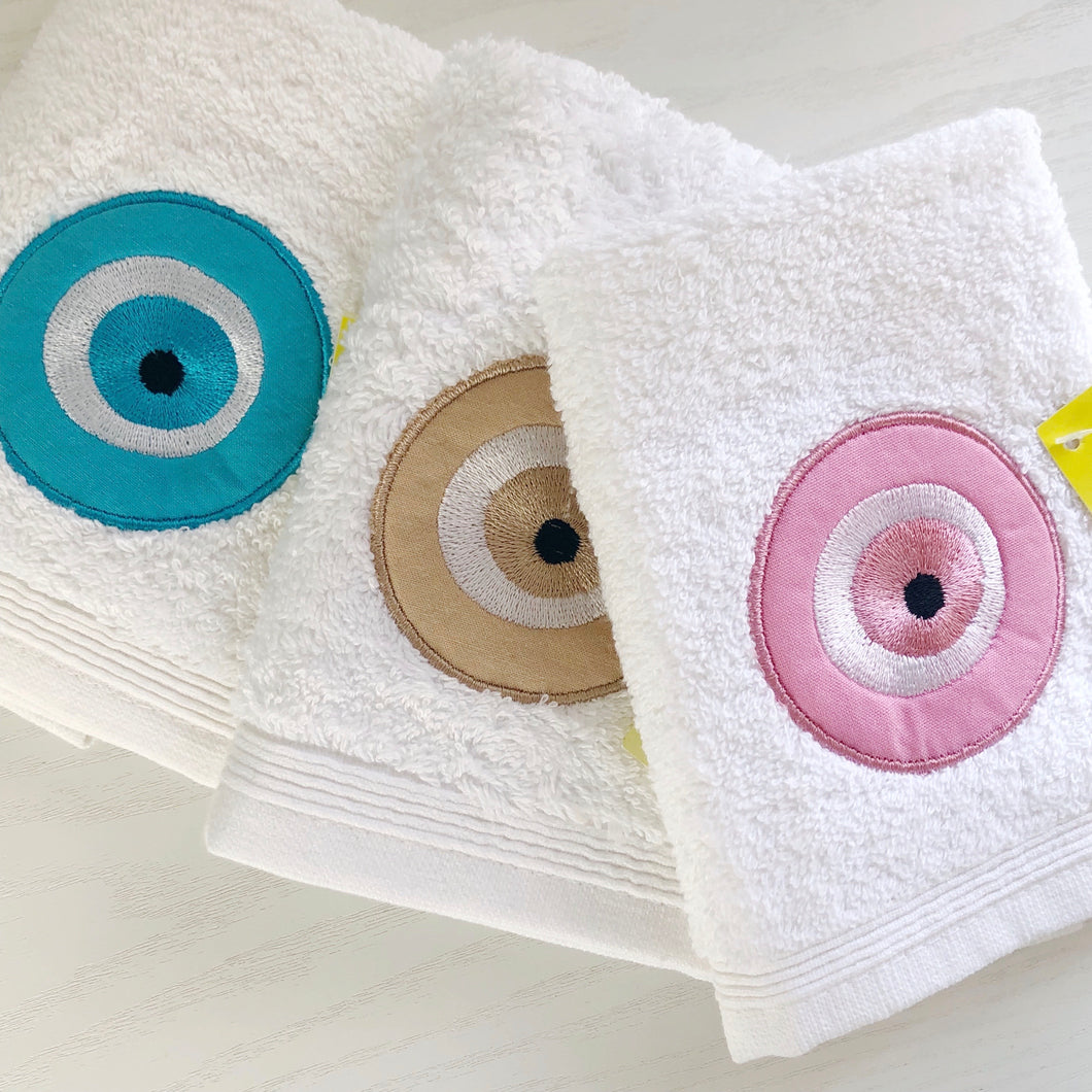 Evil Eye Flannel / Face Cloth and Soap Gift Set