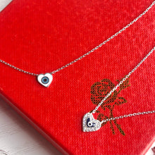 Load image into Gallery viewer, Evil Eye Enamel Heart Necklace