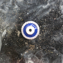 Load image into Gallery viewer, Midnight Blue Round Evil Eye Charm