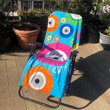 Load image into Gallery viewer, Multi-Colour Evil Eye Beach Towel