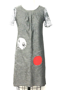 Pleated 2 Moon Dress