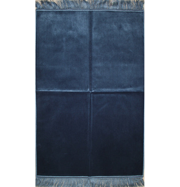 Solid Simple Velvet Prayer Rug - Blue
