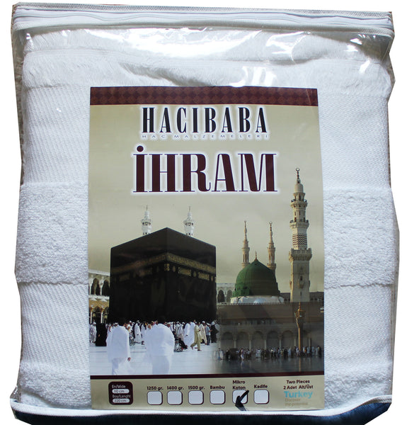 Men's 100% Micro Cotton Ihram Set of 2 Towels for Hajj and Umrah