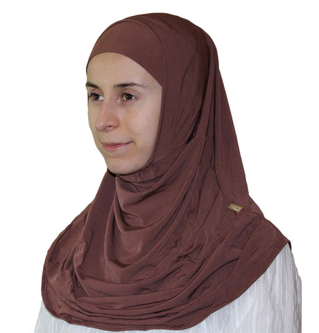 Firdevs Practical Scarf & Bonnet Brown