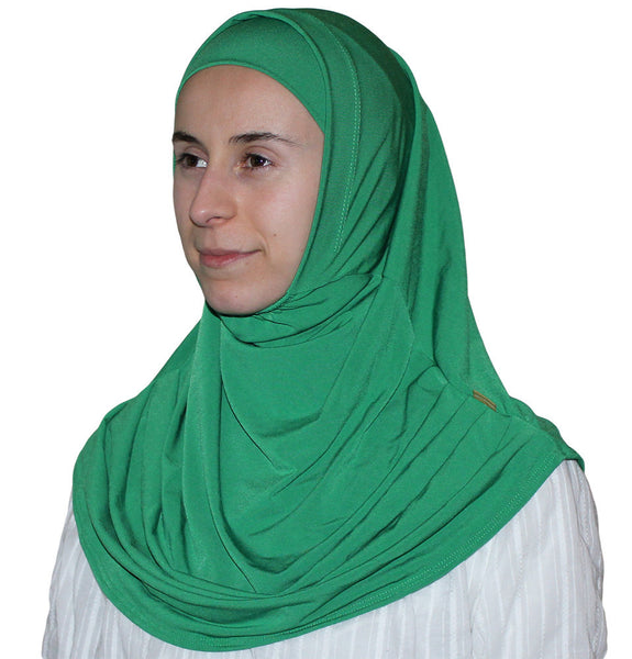 Firdevs Practical Scarf & Bonnet Bright Green