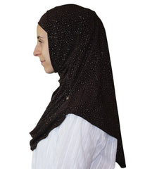 Firdevs Practical Scarf & Bonnet Brown Raindrop