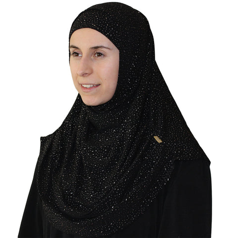 Firdevs Practical Scarf & Bonnet Raindrop Black