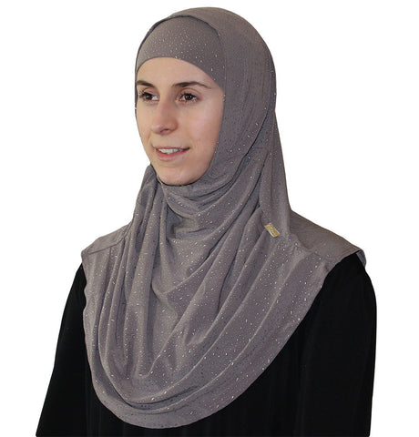Firdevs Practical Scarf & Bonnet Raindrop Grey