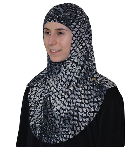 Firdevs Practical Scarf & Bonnet Lattice Grey