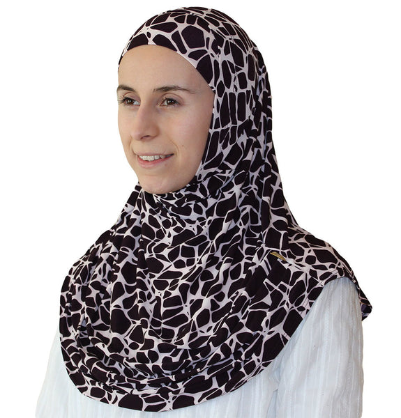 Firdevs Practical Scarf & Bonnet Giraffe Dark Purple