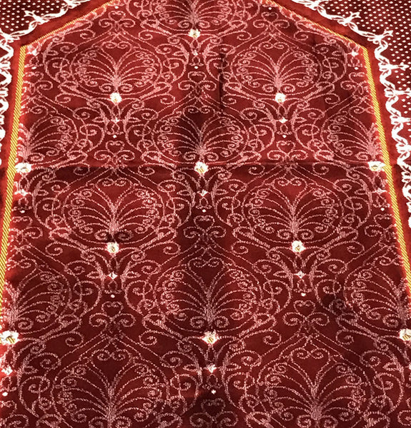 Prayer Rug Big: Double Plush Wide Extra Large Prayer Rug Solid Red