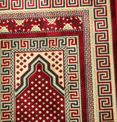 Family Islamic Prayer Rug 5 Person Red
