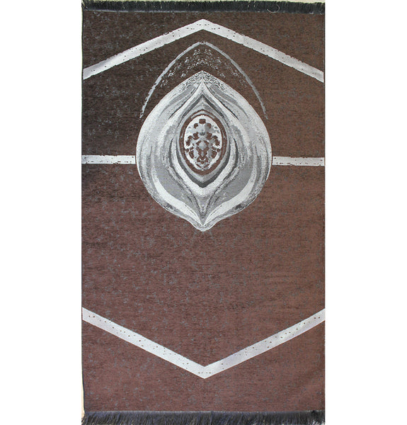 Turkish Thin Muslim Prayer Mat Black Kaba Stone
